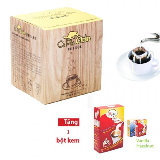 Combo cà phê chồn túi lọc - bột kem pha cà phê