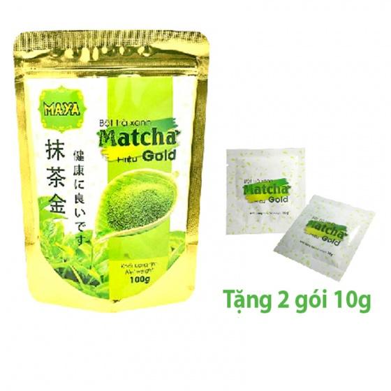Bột trà xanh Matcha Gold Nhật Bản túi 100g + quà tặng