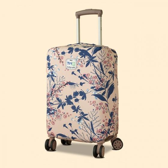 Túi bọc vali vải thun 4 chiều Trip Flower (cành hoa) size S
