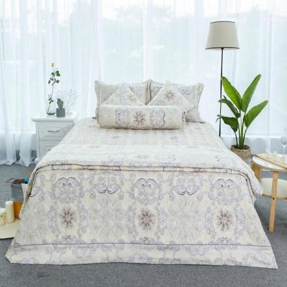 Chăn hè thu chần gòn cotton sateen Grand HQKR 33 - 200 x 210 cm