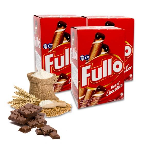 Bánh xốp sô cô la Fullo - Fullo stick Wafer Chocolate 264g - combo 3 hộp