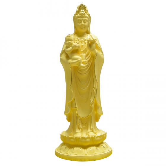 Quan Âm Trường Lạc - quà tặng mỹ nghệ Kim Bảo Phúc phủ vàng 24k DOJI