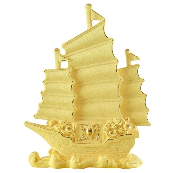 Thuyền buồm - quà tặng mỹ nghệ Kim Bảo Phúc phủ vàng 24k DOJI