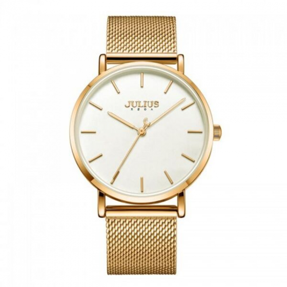 Đồng hồ nam Julius Hàn Quốc JA-1164MF dây thép (vàng)