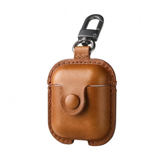 Bao da tai nghe Airpods kèm móc khóa USAMS US-BH475 Leather Case