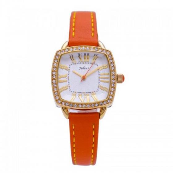 Đồng hồ nữ Julius Hàn Quốc JA-630C dây da (cam)