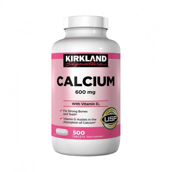 Viên uống bổ sung canxi tái tạo xương Kirkland Calcium 600mg + vitamin D3