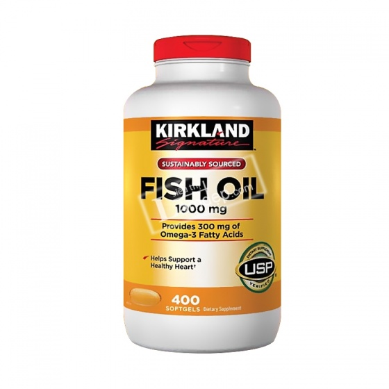 Viên uống dầu cá nhập của Mỹ - Kirkland Signature™ Omega-3 Fish oil 400 Tabs