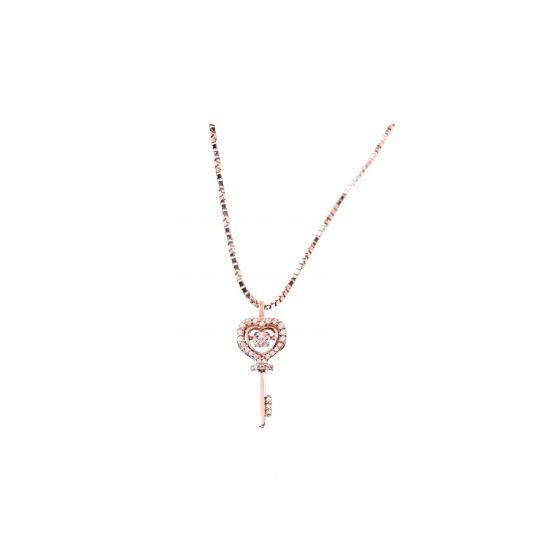 Mặt dây chuyền vàng hồng đính đá DOJI 14K 0819P-NAL633