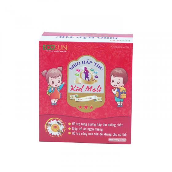 Siro hấp thu Kid Meli giúp trẻ ăn ngon miệng và tăng cường hấp thu dưỡng chất