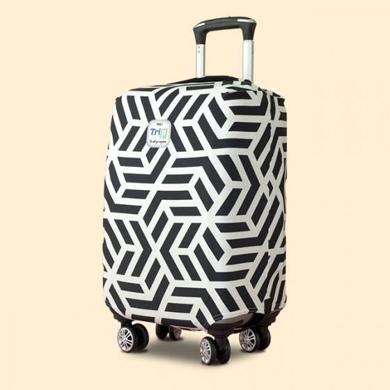 Áo trùm vali thun 4 chiều Trip Geometric (đường viền) size S