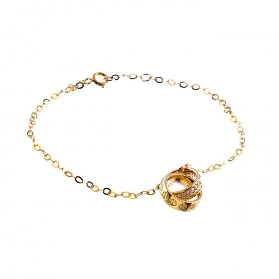 Lắc tay vàng Doji cao cấp 14K 0819B-LAL043