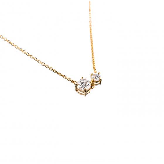 Dây chuyền vàng liền mặt đính đá DOJI 14K 0819CP-LAL084