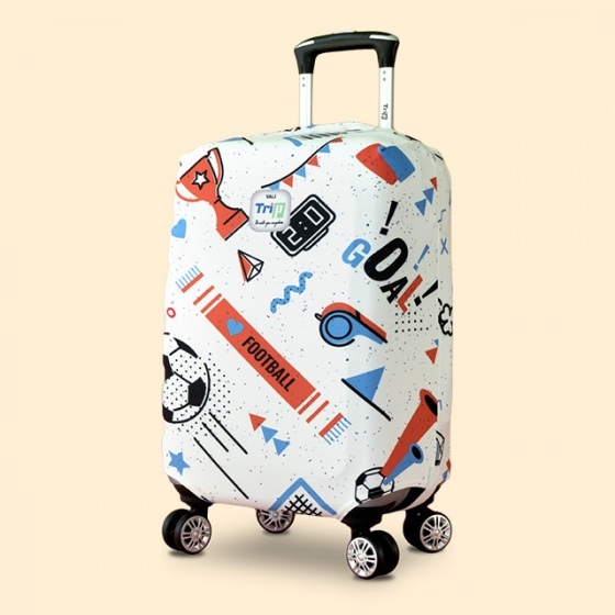 Túi bọc vali vải thun 4 chiều Trip Sport (bóng đá) size S