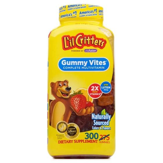 Kẹo dẻo bổ sung Vitamin và khoáng chất cho trẻ - L'il Cristers gummy vites 300 viên