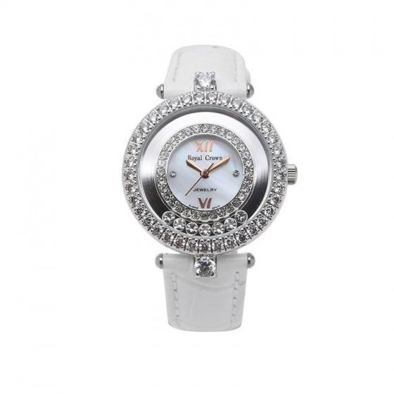Đồng hồ nữ chính hãng Royal Crown 3628 dây da trắng