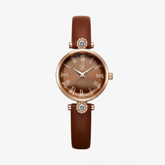 (SIÊU SALE) Đồng hồ nữ chính hãng Shengke UK K9009L-04 nâu