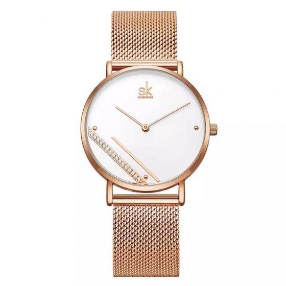 Đồng hồ nữ chính hãng Shengke UK 11K0106L-02 Vàng hồng