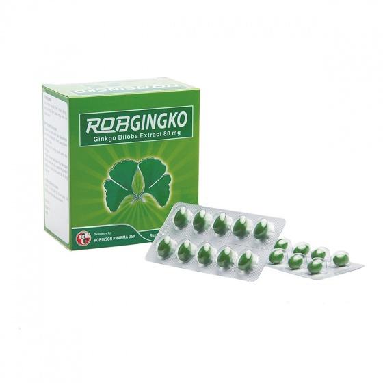 Viên uống hoạt huyết dưỡng não, bổ não, thiếu máu não - RobGingko - MediBeauty - Robinson Pharma USA - Hộp 100v