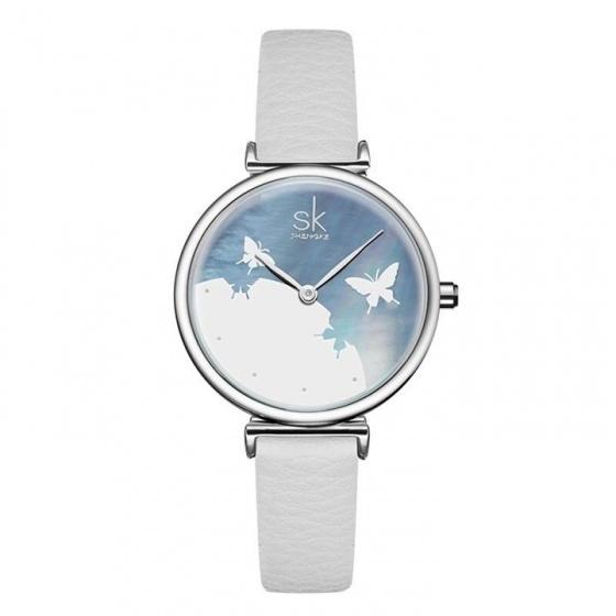 Đồng hồ nữ chính hãng Shengke Korea K0101L-01 Trắng