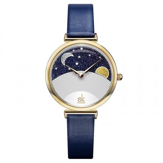 Đồng hồ nữ chính hãng Shengke UK K0124L-02 Xanh