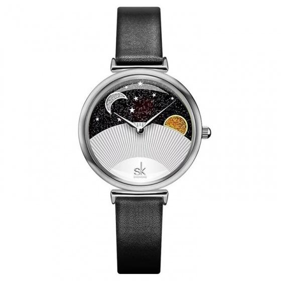 Đồng hồ nữ chính hãng Shengke UK K0124L-01 Đen