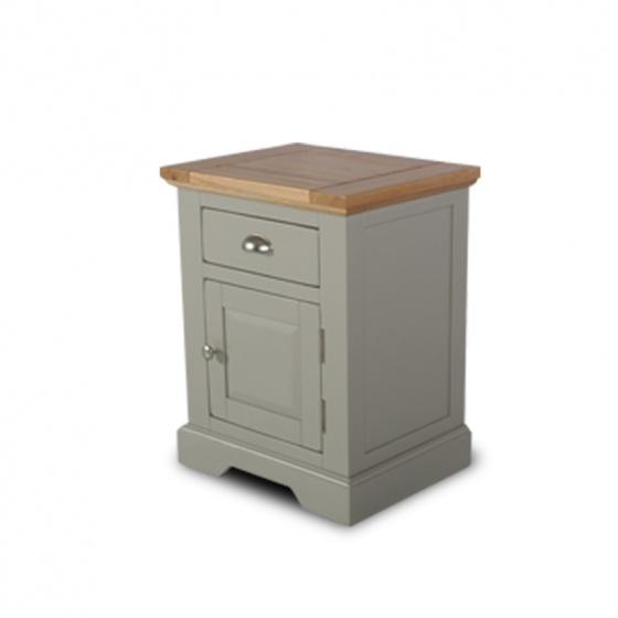 Tủ đầu giường - tủ trang trí gỗ sồi tự nhiên Furnist Charming Grey
