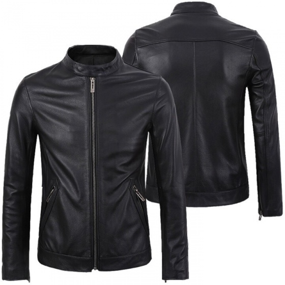 Áo da nam lót lông giữ ấm mùa đông cao cấp dokafashion màu đen - DM01