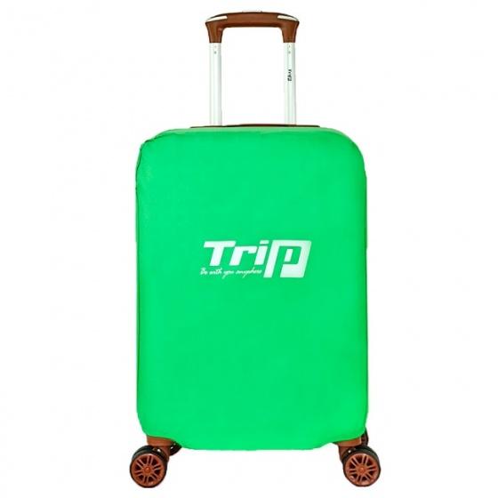 Áo trùm vali vải dù Trip size S xanh lá