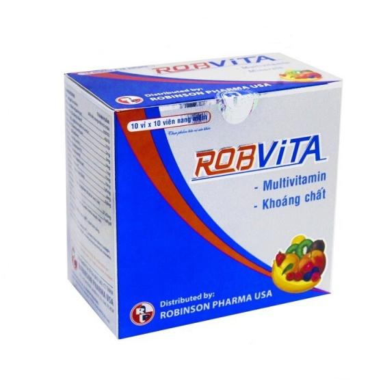 Viên uống bồi bổ sức khỏe, vitamin tổng hợp, chán ăn, mệt mỏi - Robvita - MediBeauty