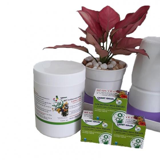 Bột dưỡng hoa tươi lâu Longlife SG Israel dành cho shop hoa cắm lẵng, cắm xốp hiệu quả (hộp 1kg)