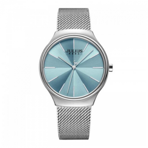Đồng hồ nữ dây kim loại chính hãng Julius Hàn Quốc JA-1199A Bạc