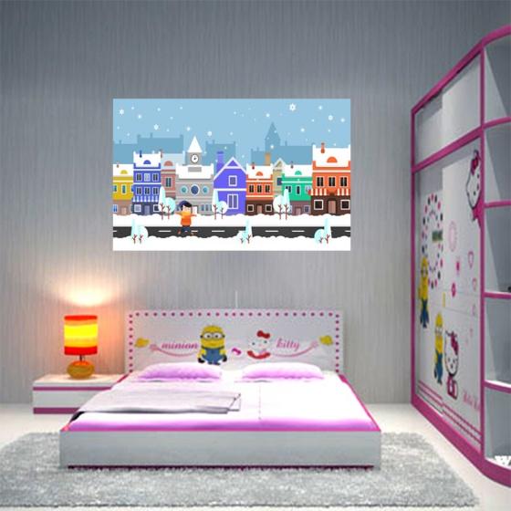 Tranh dán phòng ngủ khổ lớn TMN-149