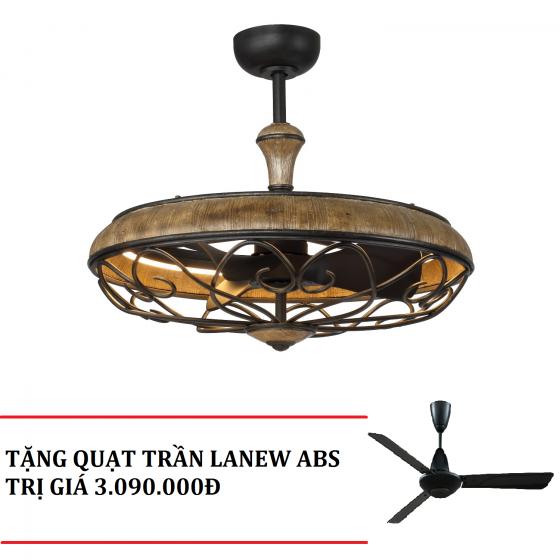 Mua 1 tặng 1 - Quạt trần đèn chùm Royal ELIZA tặng quạt trần Lanew ABS trị giá 3.090.000Đ