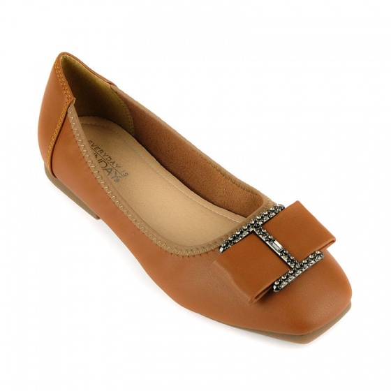 Giày búp bê êm chân Sunday BB38 nâu đậm