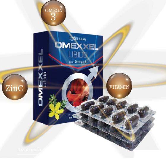Viên uống tăng cường sinh lý và sức khỏe nam giới Omexxel Libido (30 viên) - chính hãng Mỹ