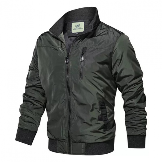 Áo khoác dù nam dù nhẹ, big size dành cho người béo bụng hiệu Dokafashion Black DU4M6S (tặng 1 quần lót nam)