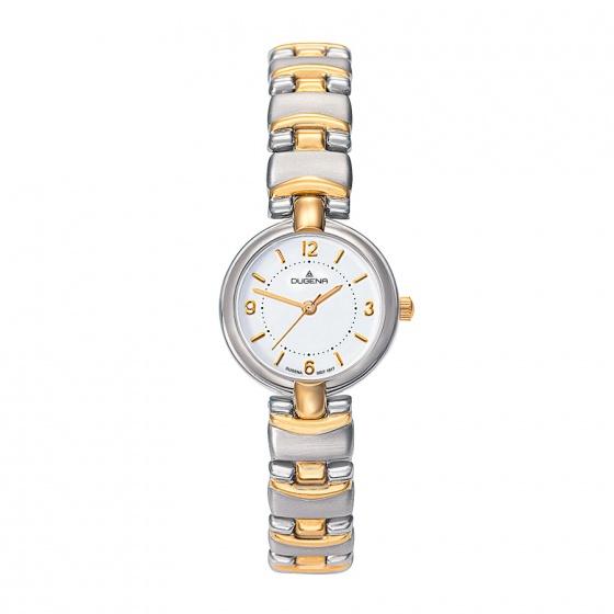Đồng hồ nữ Dugena Classic 2009212 mặt tròn dây kim loại hai màu 22.7 mm