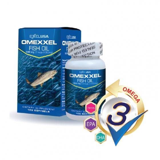 Combo 2 lọ viên uống dầu cá Omexxel Fish Oil 1000mg (200 viên) - xuất xứ Mỹ