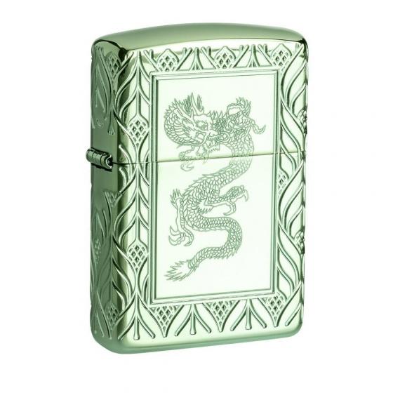 Bật lửa Zippo Armor® High Polish Green Elegant Dragon 49054