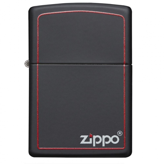 Bật lửa Black Matte with Zippo Logo and Border 218ZB