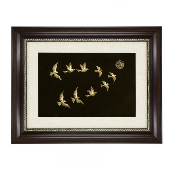 Quà tặng đối ngoại cao cấp - Tranh những cánh chim khát vọng mạ vàng