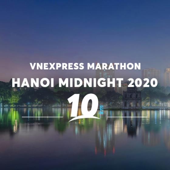 Vé Vnexpress Marathon Midinight Hà Nội 2020 - cự ly 10KM