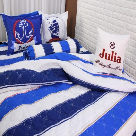 (Giá độc quyền) Bộ chăn ga gối 5 món cotton Hàn Julia 215BM18