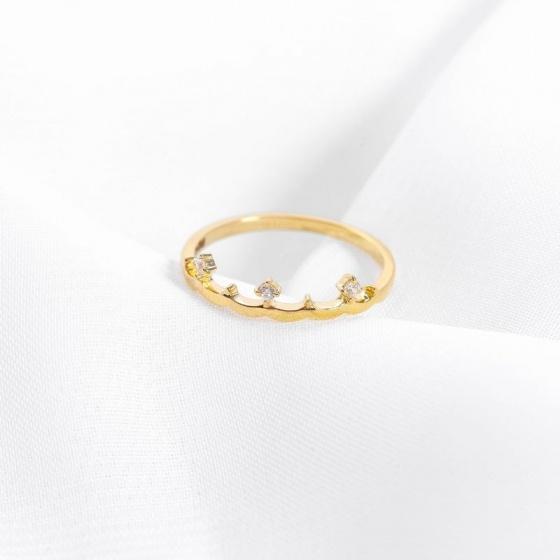 Nhẫn vàng DOJI cao cấp 14K 0819R-LAL037