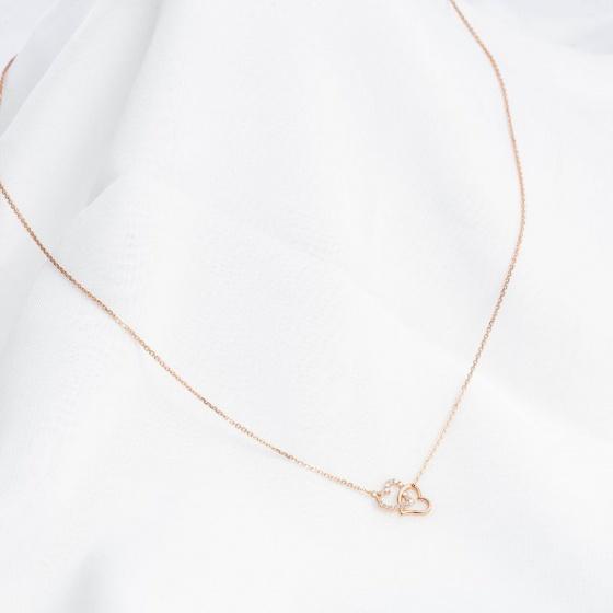 Dây chuyền vàng hồng liền mặt DOJI 14K 0819CP-LAL078
