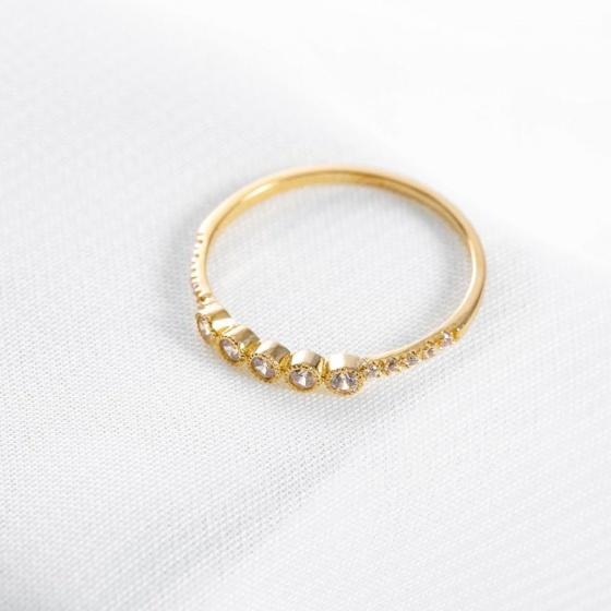 Nhẫn vàng DOJI cao cấp 14K 0819R-LAL301