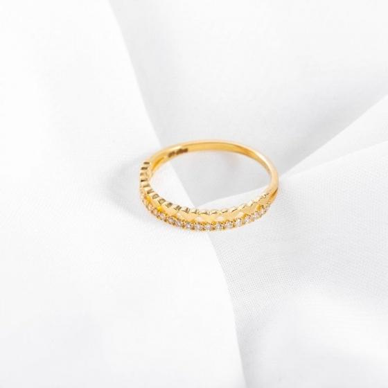 Nhẫn vàng DOJI cao cấp 14K 0819R-LAL344
