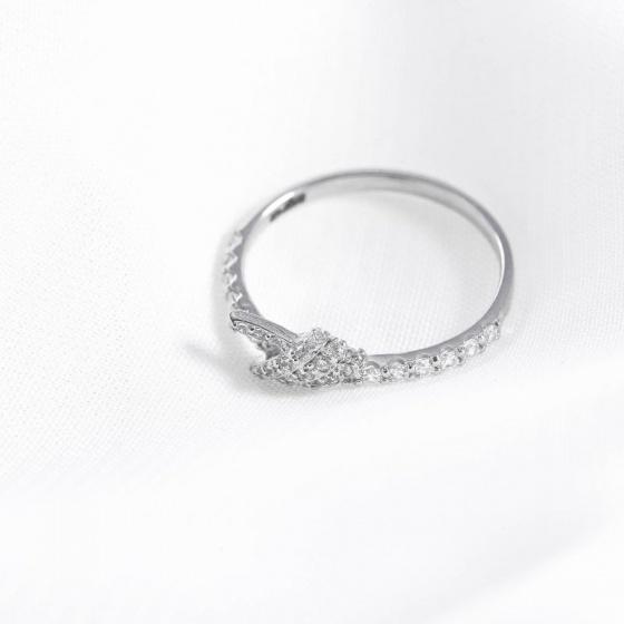 Nhẫn vàng trắng DOJI cao cấp 14K 0819R-LAL348