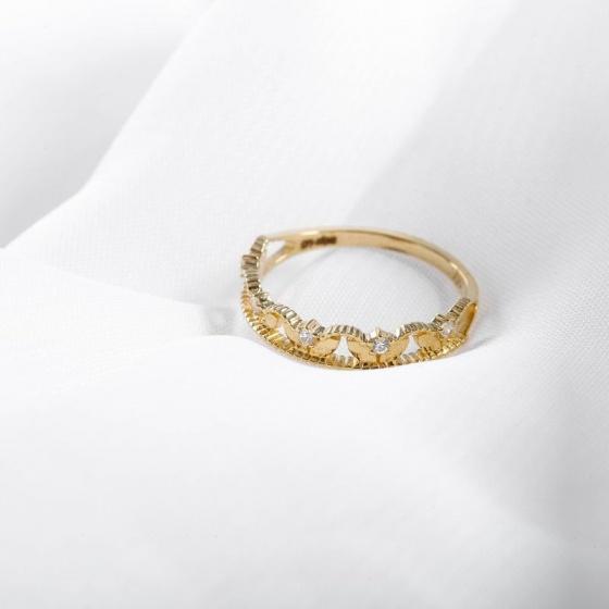 Nhẫn vàng DOJI cao cấp 14K 0819R-LAL394